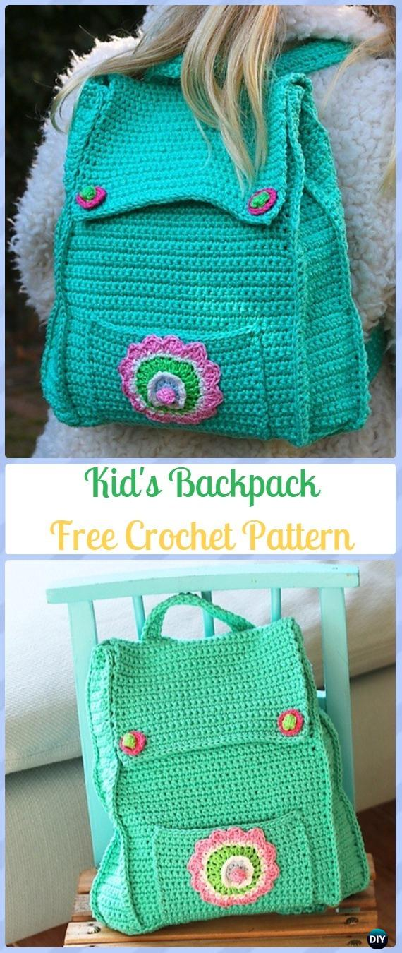 08843525e96 Crochet Kid s Backpack Free Pattern -Crochet Backpack Free Patterns Adult  Version