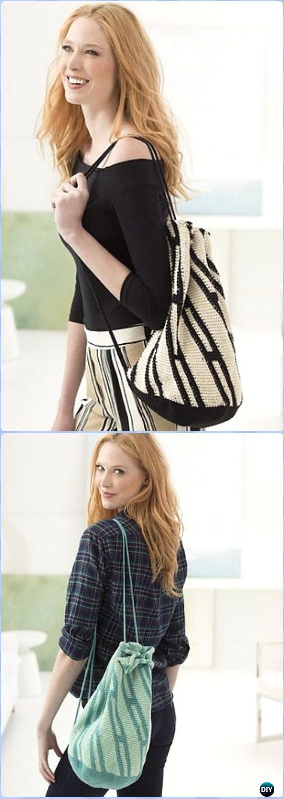 Crochet Encantada Bag/Backpack Free Pattern -Crochet Backpack Free Patterns Adult Version