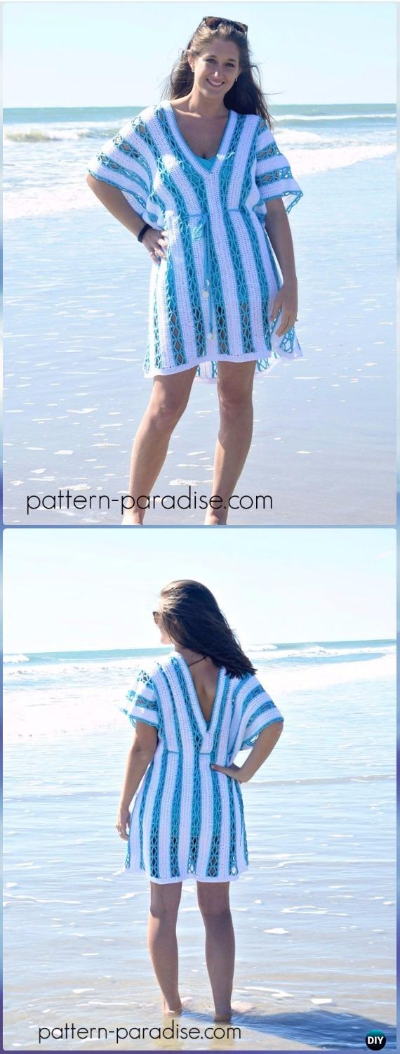 Crochet Beach Day Cover-Up Tunic Free Pattern - Crochet Beach Cover Up Free Patterns