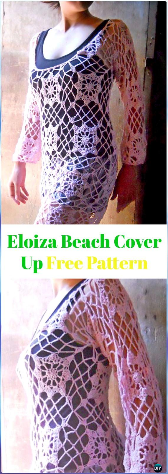 Crochet Eloiza Beach Cover Up Free Pattern - Crochet Beach Cover Up Free Patterns