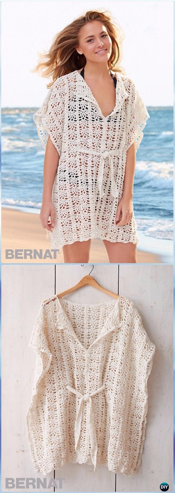 Free Pattern Crochet Cover Up : Crochet Beach Cover Up Free Patterns Women Summer Top