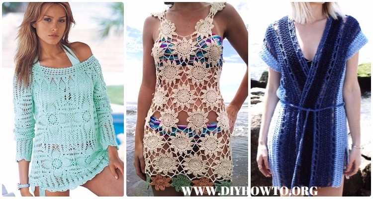 Crochet Beach Cover Up Free Patterns Women Summer Top