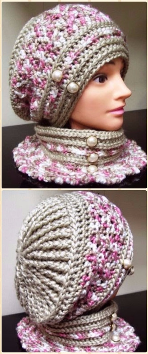 Crochet Robyn's Beret Hat Free Pattern - Crochet Beanie Hat Free Patterns