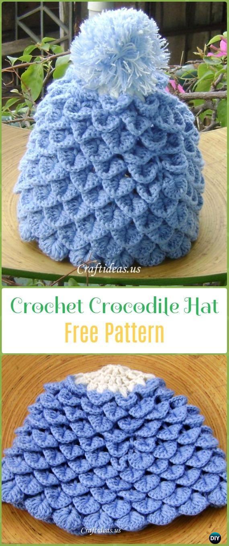 Crochet Crocodile Stitch Hat Free Pattern – Crochet Beanie Hat Free Patterns 6ebb83a6830