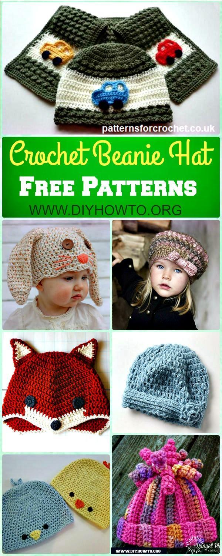 DIY Crochet Beanie Hat Free Patterns Baby Hat Winter Hat