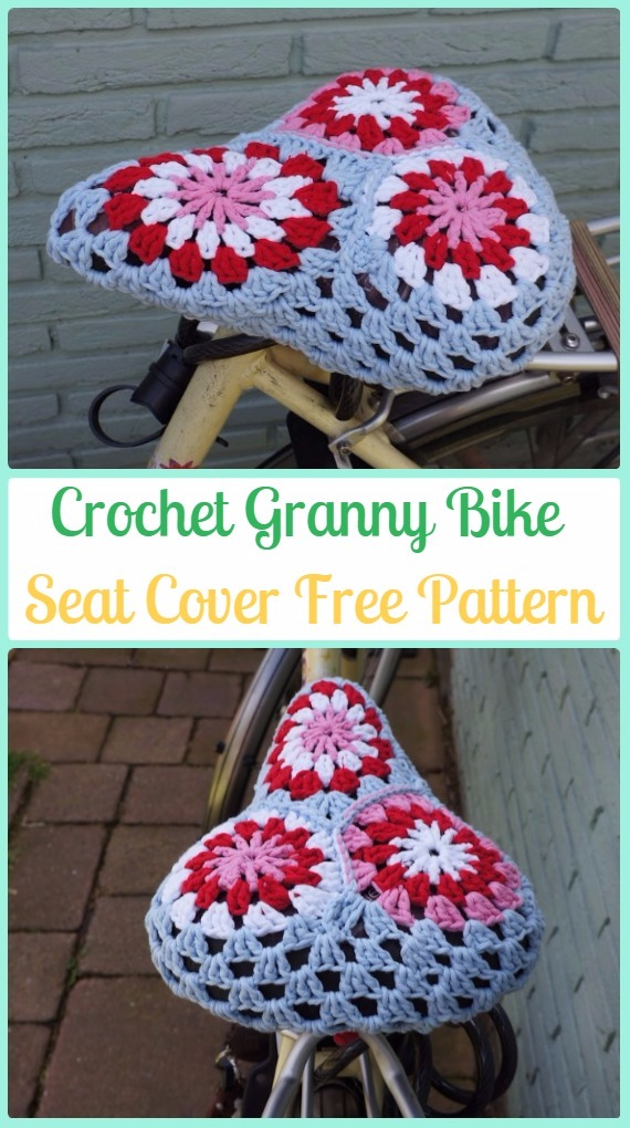 Crochet Granny Bike Seat Cover Free Pattern - Crochet Bicycle Fashion Patterns