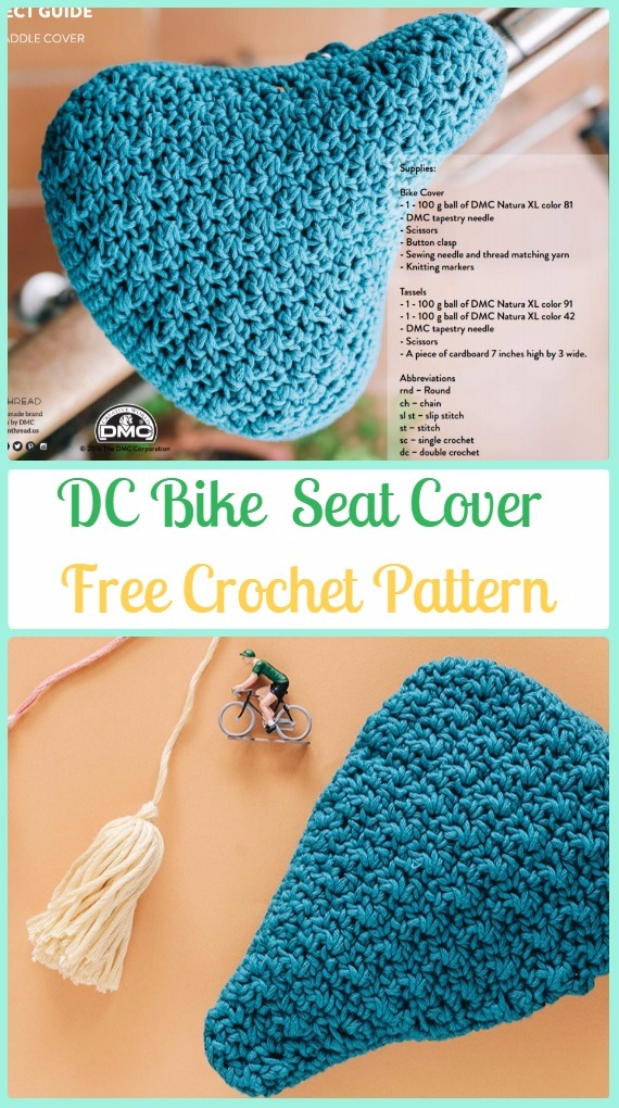 Crochet Dc Bike Seat Cover Free Pattern Crochet Bicycle Fashion