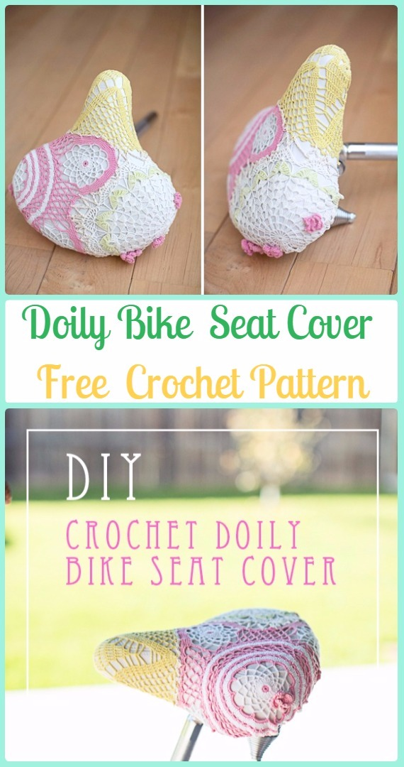 Crochet DOILY Bike Seat Cover Free Pattern - Crochet Bicycle Fashion Patterns