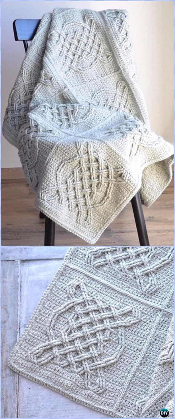 Crochet Celtic Tiles Blanket Free Pattern - Crochet Block Blanket Free Patterns