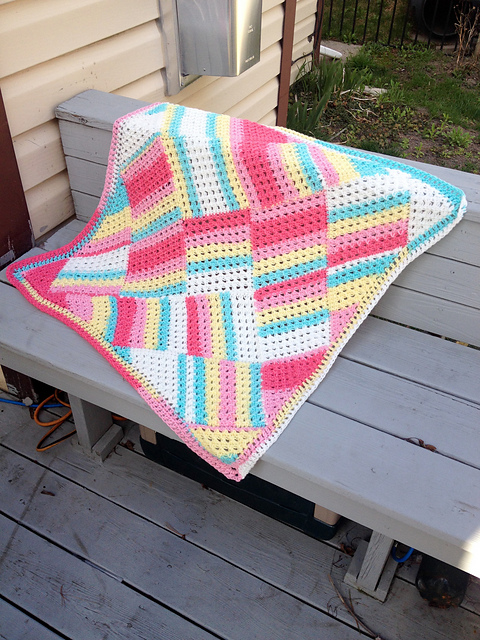 Crochet Tutti Frutti Baby Blanket Free Pattern - Crochet Block Blanket Free Patterns
