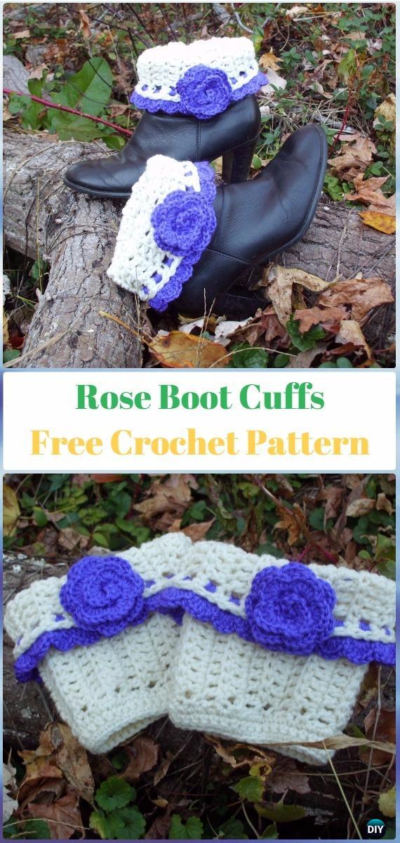 Crochet Rose Boot Cuffs Free Pattern - Crochet Boot Cuffs Free Patterns