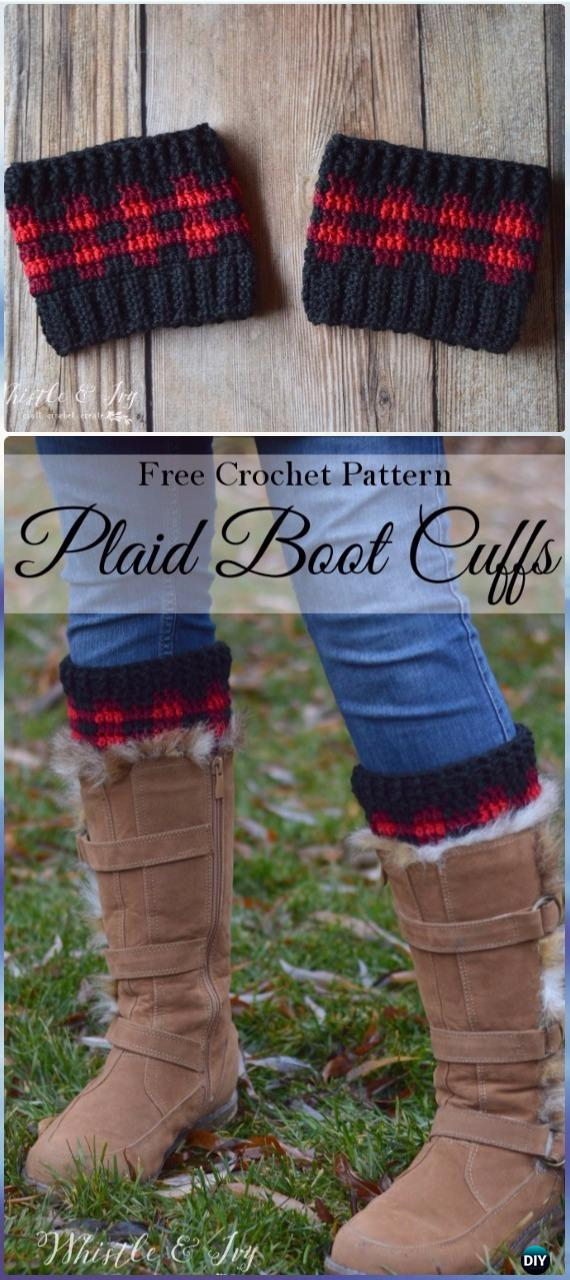 Crochet Boot Cuffs Toppers Free Patterns Tutorials