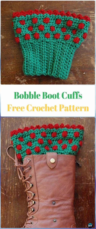 Crochet Bobble Boot Cuffs Free Pattern Crochet Boot Cuffs Free