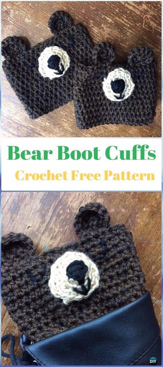 Crochet Bear Boot Cuffs Free Pattern - Crochet Boot Cuffs Free Patterns