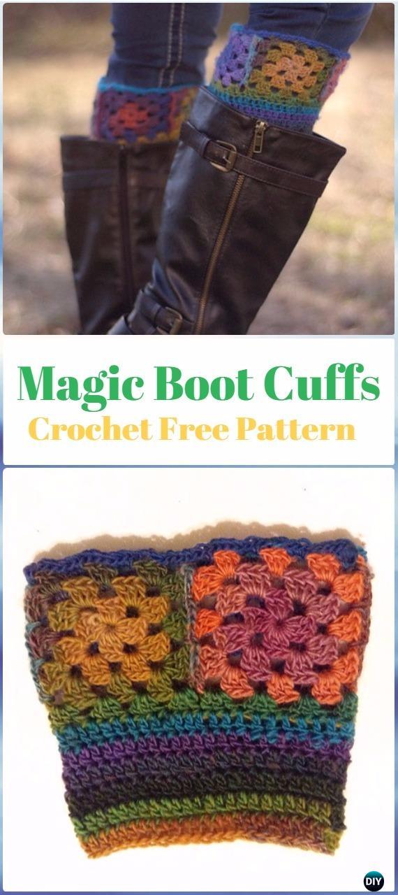 Crochet Magic Boot Cuffs Free Pattern - Crochet Boot Cuffs Free Patterns