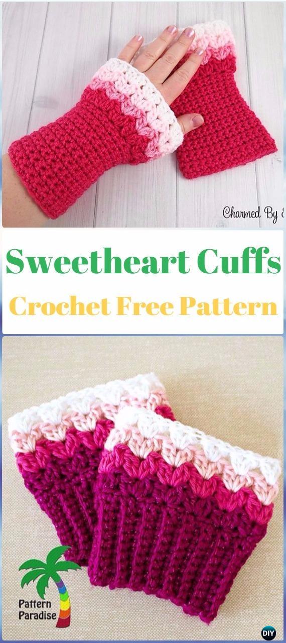 Crochet Sweetheart Boot Cuffs Free Pattern - Crochet Boot Cuffs Free Patterns