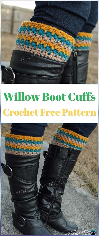Crochet Willow Boot Cuffs Free Pattern - Crochet Boot Cuffs Free Patterns