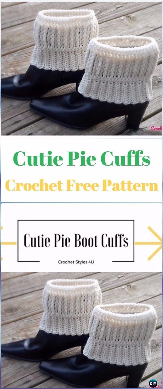 Crochet Cutie Pie Cuffs Free Pattern - Crochet Boot Cuffs Free Patterns