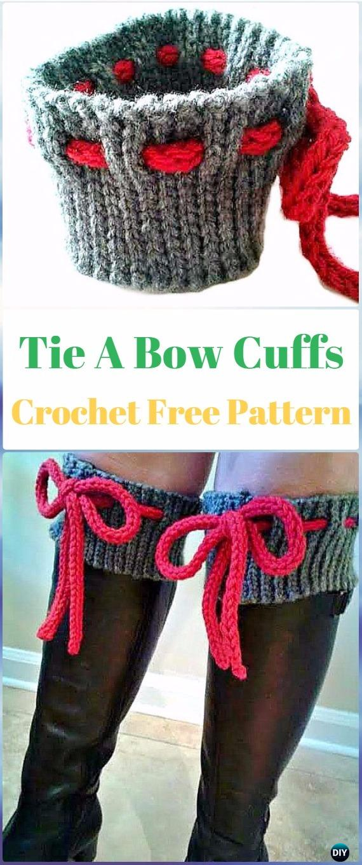 Crochet Tie A Bow Boot Cuffs Free Pattern Crochet Boot Cuffs Free