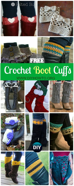 Crochet Boot Cuffs & Toppers Free Patterns & Tutorials