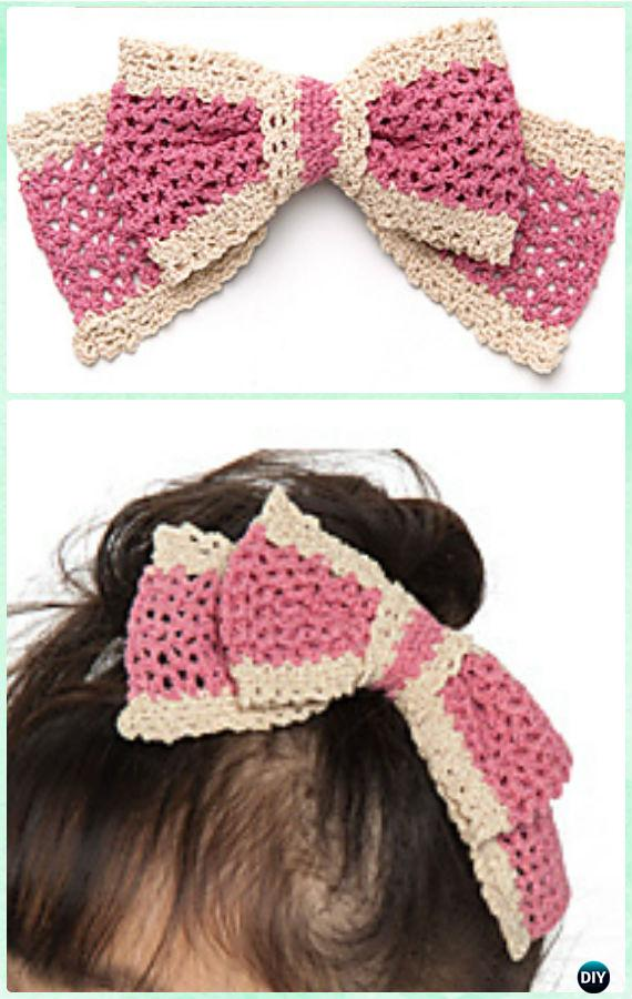 Crochet Bow Free Patterns Instrucions