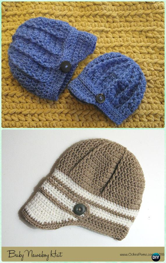 Crochet Boys Sun Hat Free Patterns & Instructions
