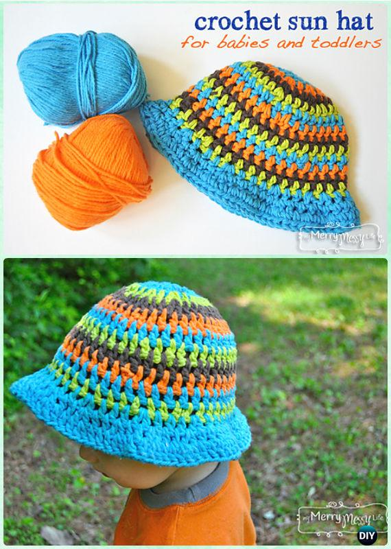eda7911d148 Crochet Baby Toddler Summer Sun Hat Crochet Baby Toddler Summer Sun Hat  Free Pattern - Crochet Boys Sun Hat Free Patterns