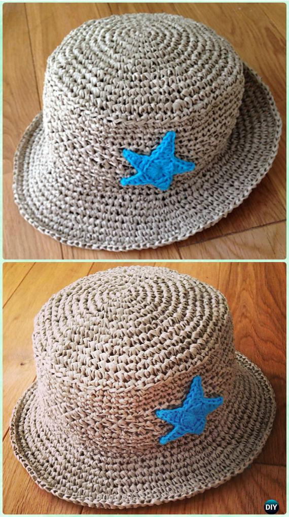 Crochet Kids Brimmed Sun Hat Free Pattern Crochet Boys Sun Hat