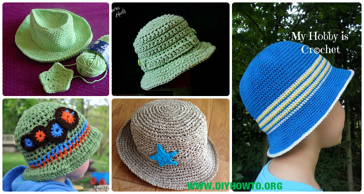 Crochet Boys Sun Hat Free Patterns Instructions