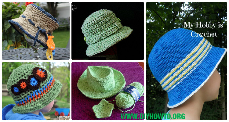 Crochet Boys Sun Hat Free Patterns Instructions