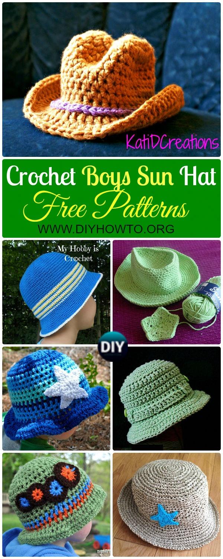 Crochet Boys Sun Hat Free Patterns & Instructions