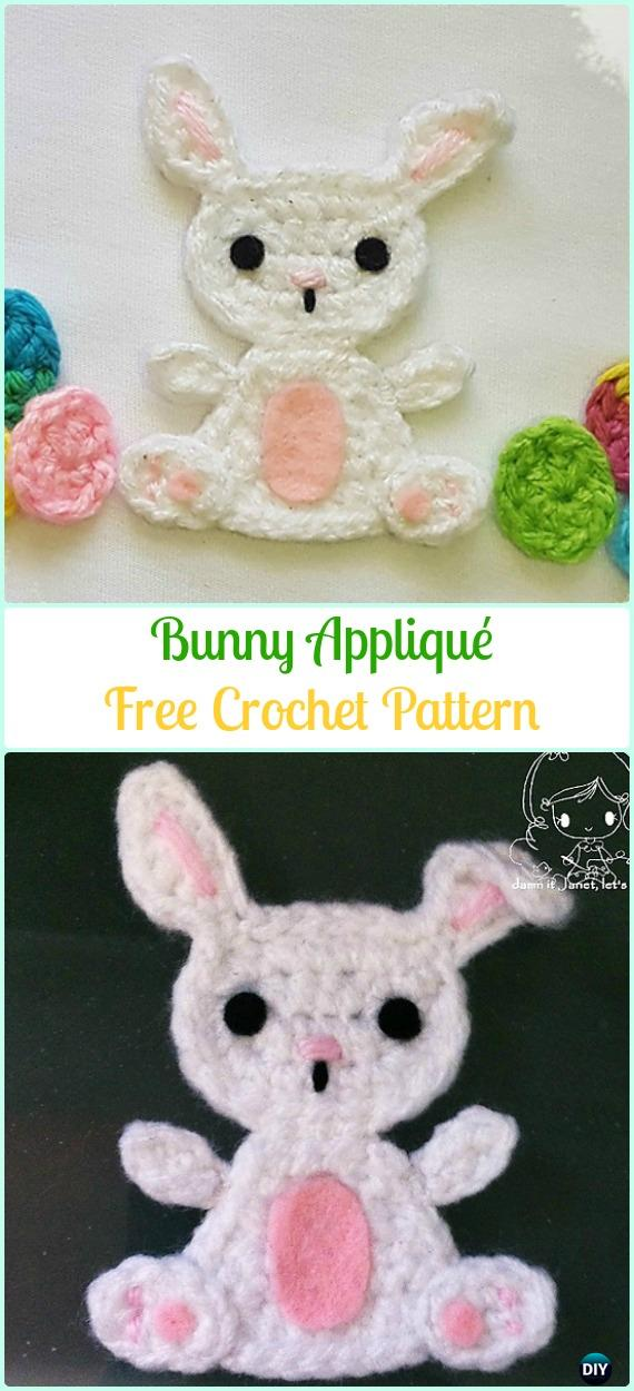 Crochet Bunny Applique Free Patterns