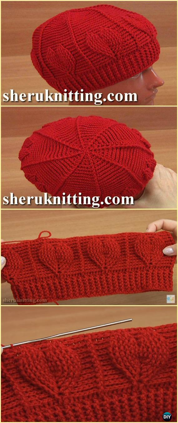 Crochet Two-Sided Red Heart Hat Free Pattern Video - Crochet Cable ...