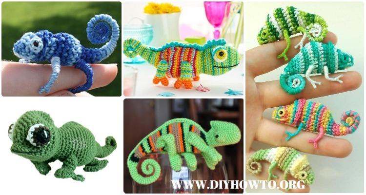 Crochet Chameleon Amigurumi Softies Toy Patterns