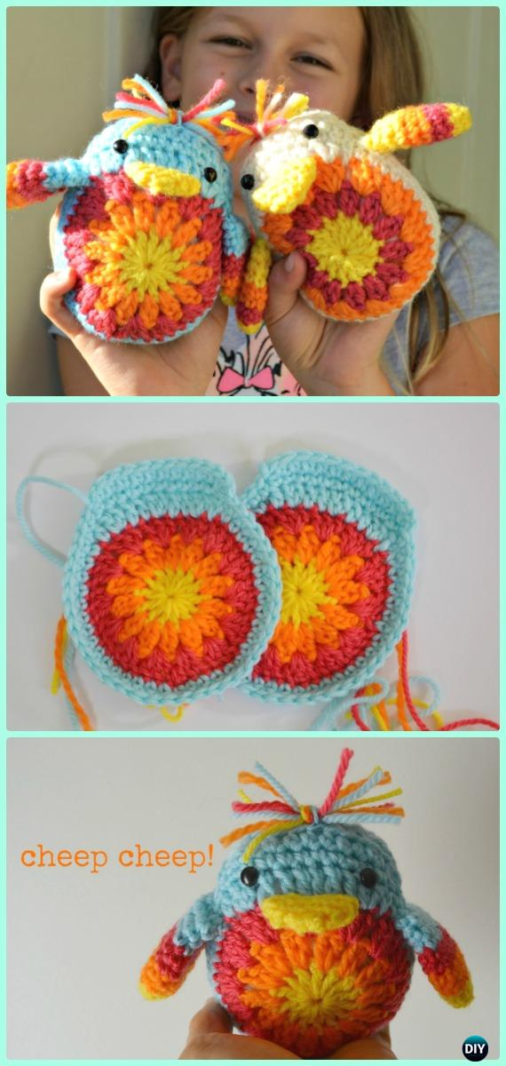 Crochet Flower Cheeo Cheep Chick Free Pattern - Crochet Chicken Free Patterns