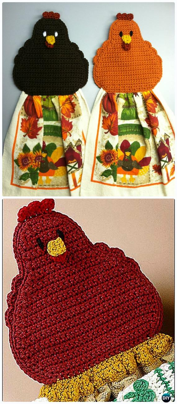 Crochet Chicken Topper / Coaster Free Pattern - Crochet Chicken Free Patterns