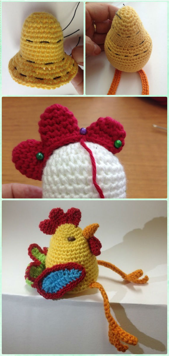 Crochet Amigurumi New Year Rooster Cock Free Pattern - Crochet Chicken Free Patterns