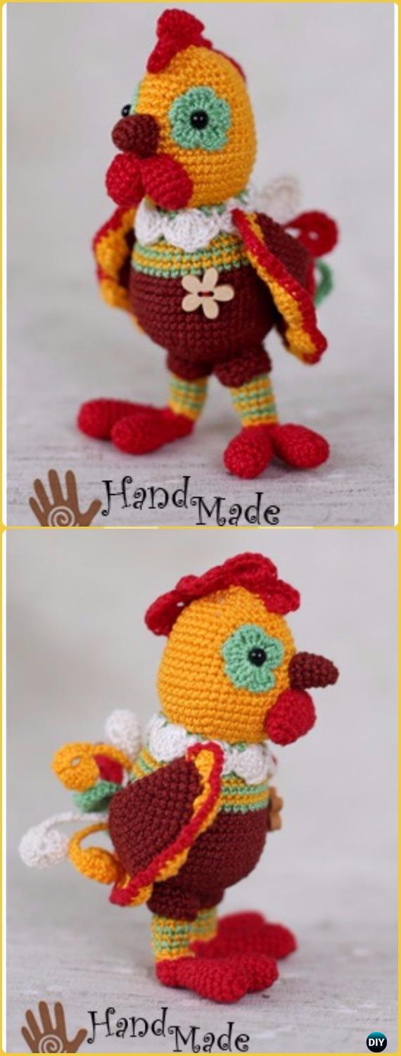Crochet Amigurumi New Year Rooster Valera Free Pattern - Crochet Chicken Free Patterns