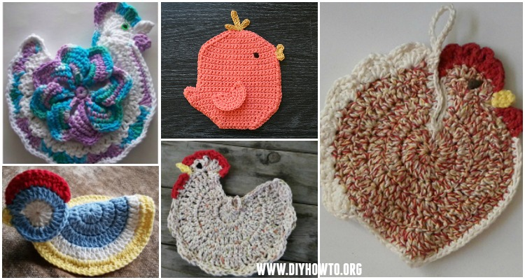 Crochet Chicken Potholder Free Patterns Easter Table