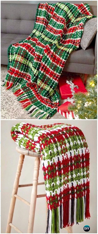 Crochet Christmas Blanket Free Patterns Tutorials
