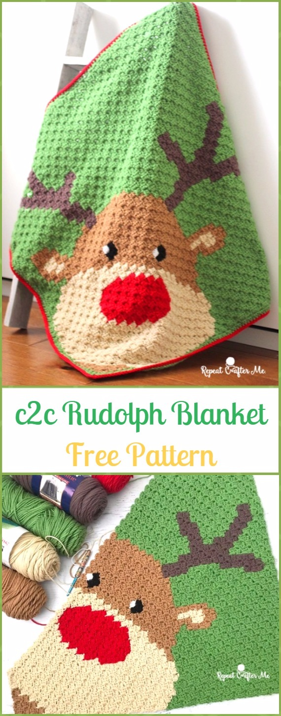 Christmas Crochet Blanket Free Pattern.Crochet Christmas Blanket Free Patterns Tutorials