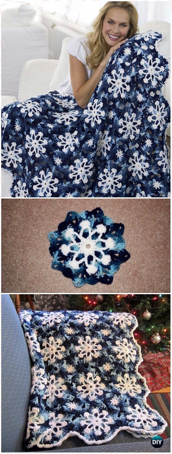 Crochet Christmas Blanket Free Patterns & Tutorials