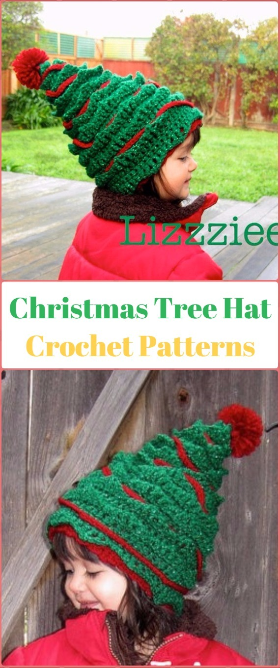 Crochet Christmas Tree Hat Paid Pattern - Crochet Christmas Hat Gifts  Patterns 3d8a18122a0