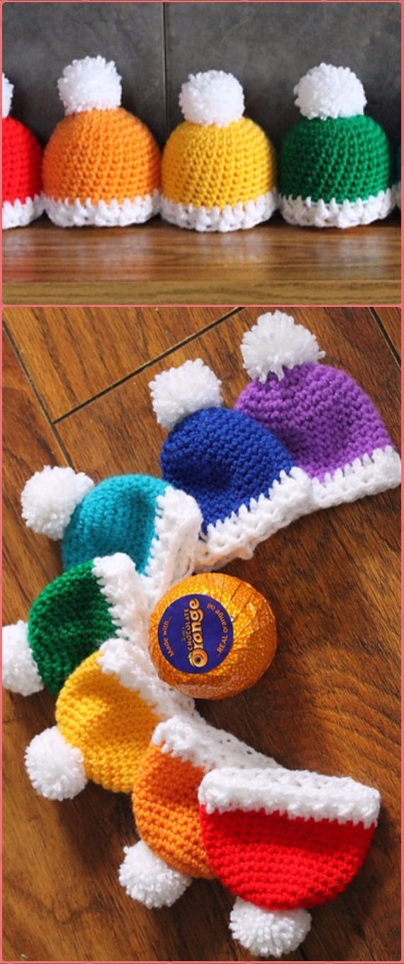 Crochet Christmas Hat Gifts Free Patterns Tutorials