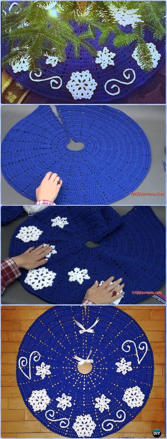 Crochet Fabulous Flurries Tree Skirt Free Pattern - Crochet Christmas Tree Skirt Free Patterns