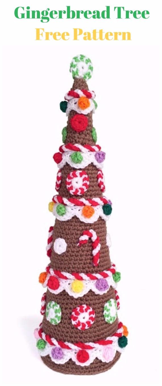 Crochet Gingerbread TreeFree Pattern - Crochet Christmas Tree Free Patterns