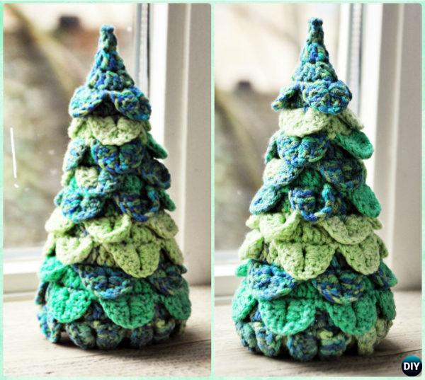 Crochet Crocodile Stitch Christmas Tree Free Pattern Instruction - Crochet Christmas Tree Free Patterns