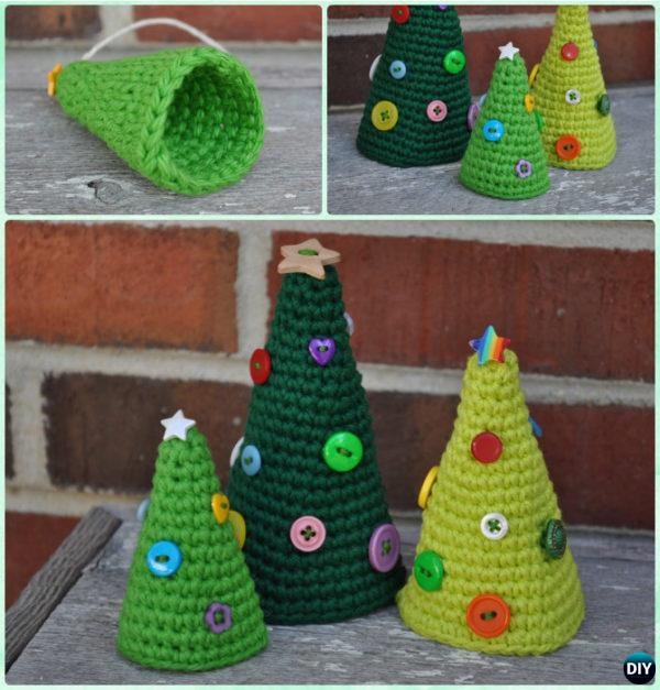 Crochet Cone Christmas Tree Free Pattern Instruction - Crochet Christmas Tree Free Patterns