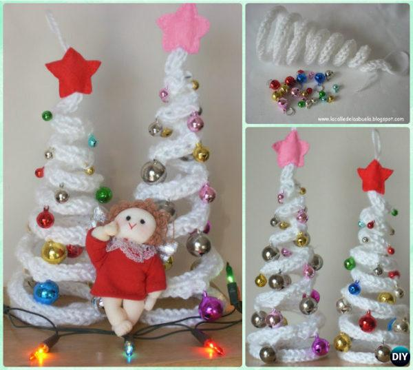 Crochet Spiral Wire Chain Christmas Tree Free Pattern Instruction - Crochet Christmas Tree Free Patterns