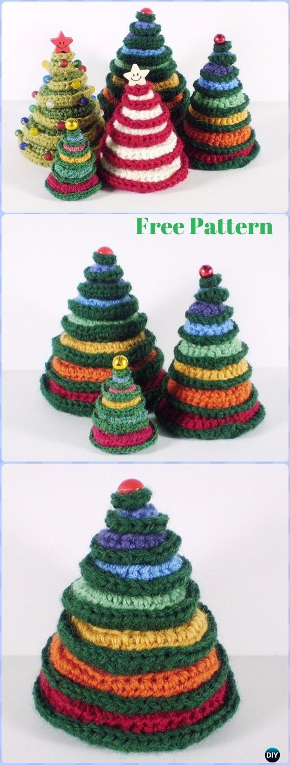 Crochet christmas tree free patterns for holiday decoration crochet going round in circles christmas tree free pattern crochet christmas tree free patterns bankloansurffo Image collections